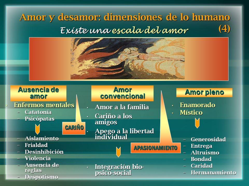 Amor y desamor: dimensiones de lo humano (4)