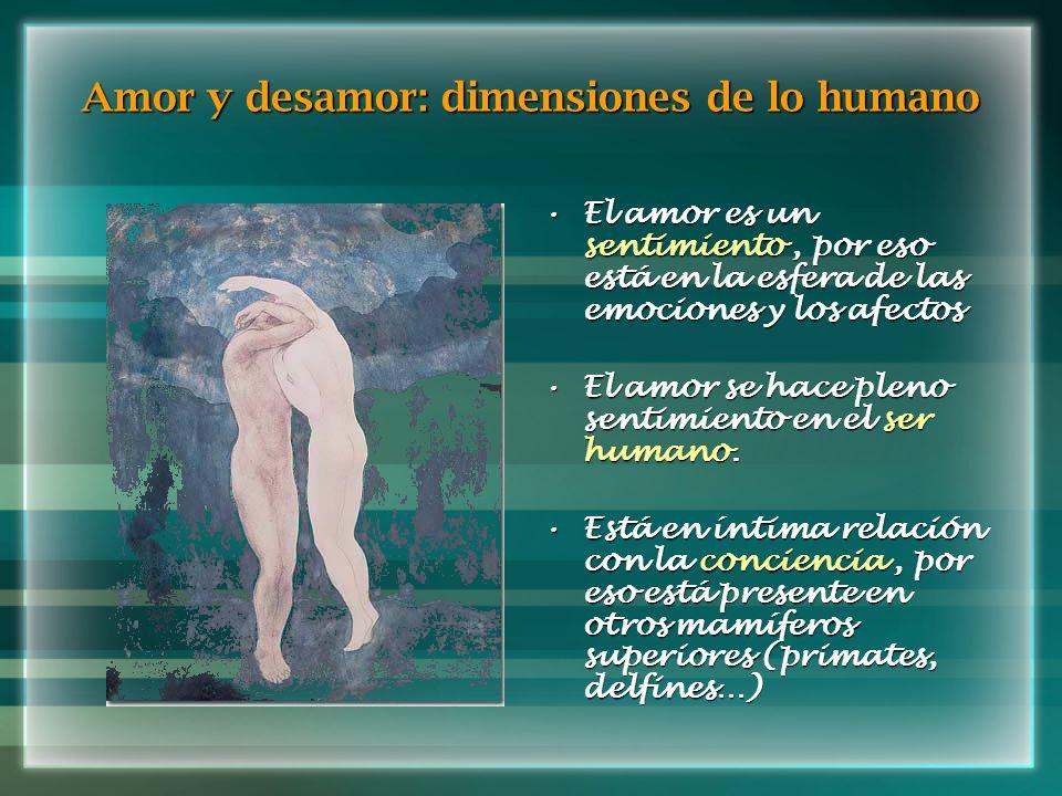 Amor y desamor: dimensiones de lo humano