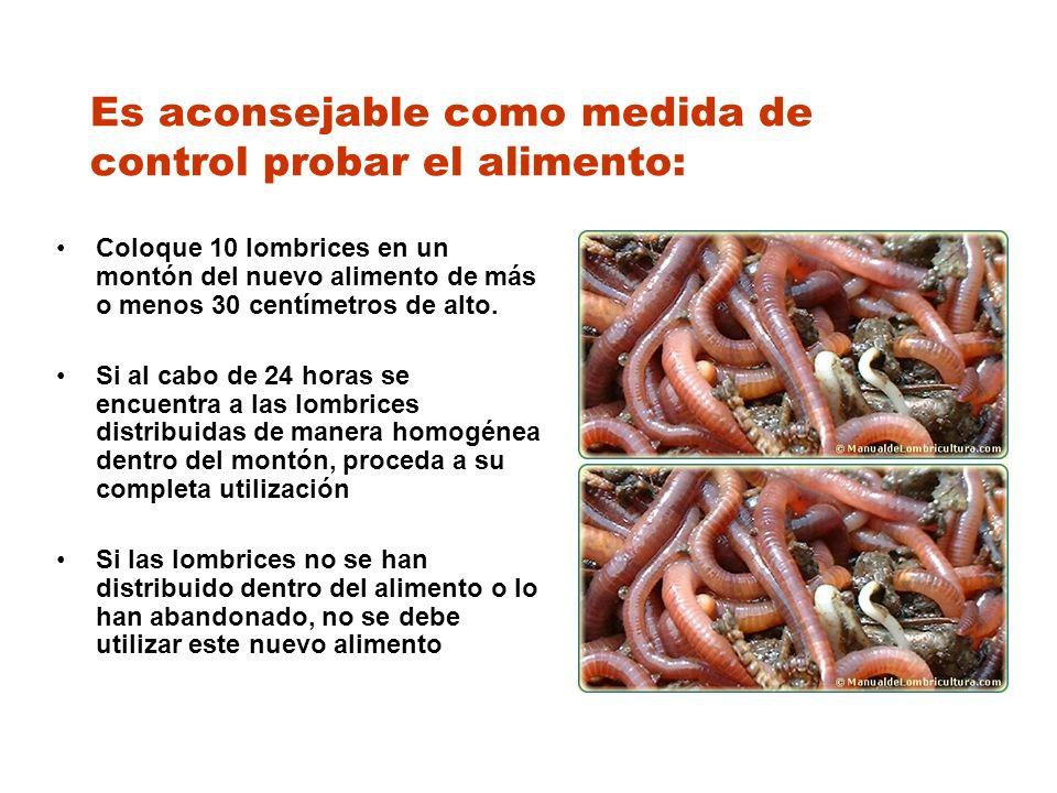 Es aconsejable como medida de control probar el alimento: