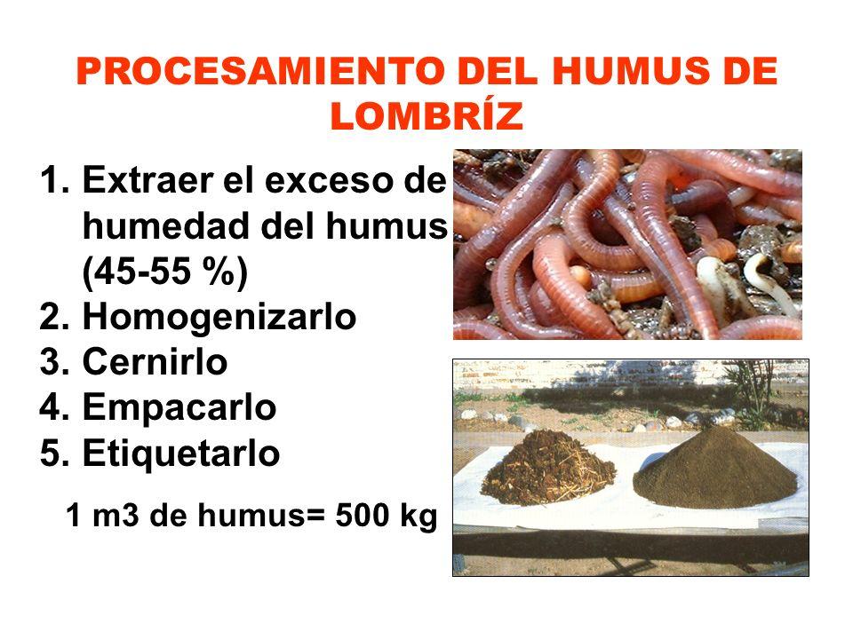 PROCESAMIENTO DEL HUMUS DE LOMBRÍZ
