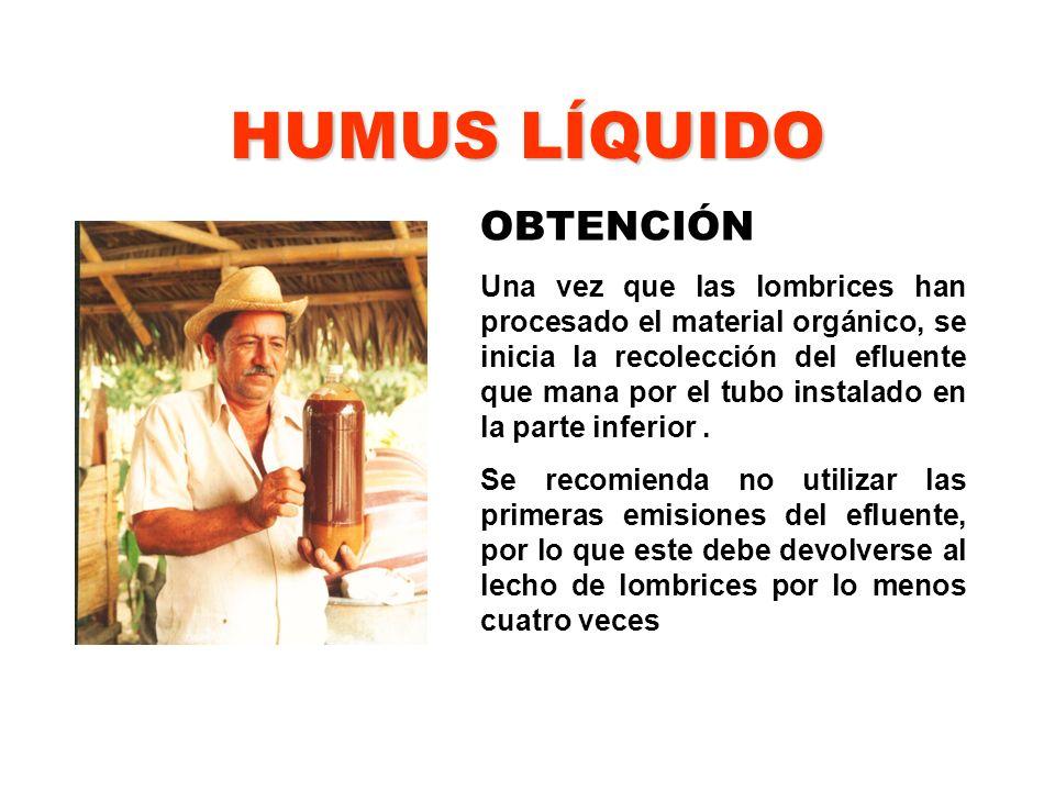 HUMUS LÍQUIDO OBTENCIÓN