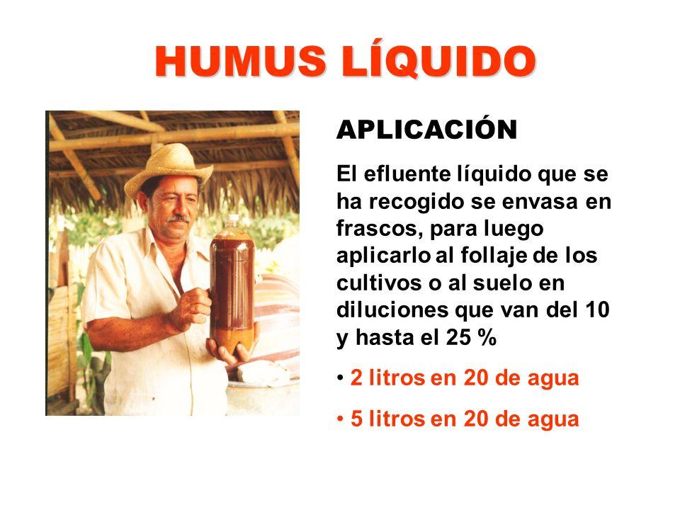HUMUS LÍQUIDO APLICACIÓN