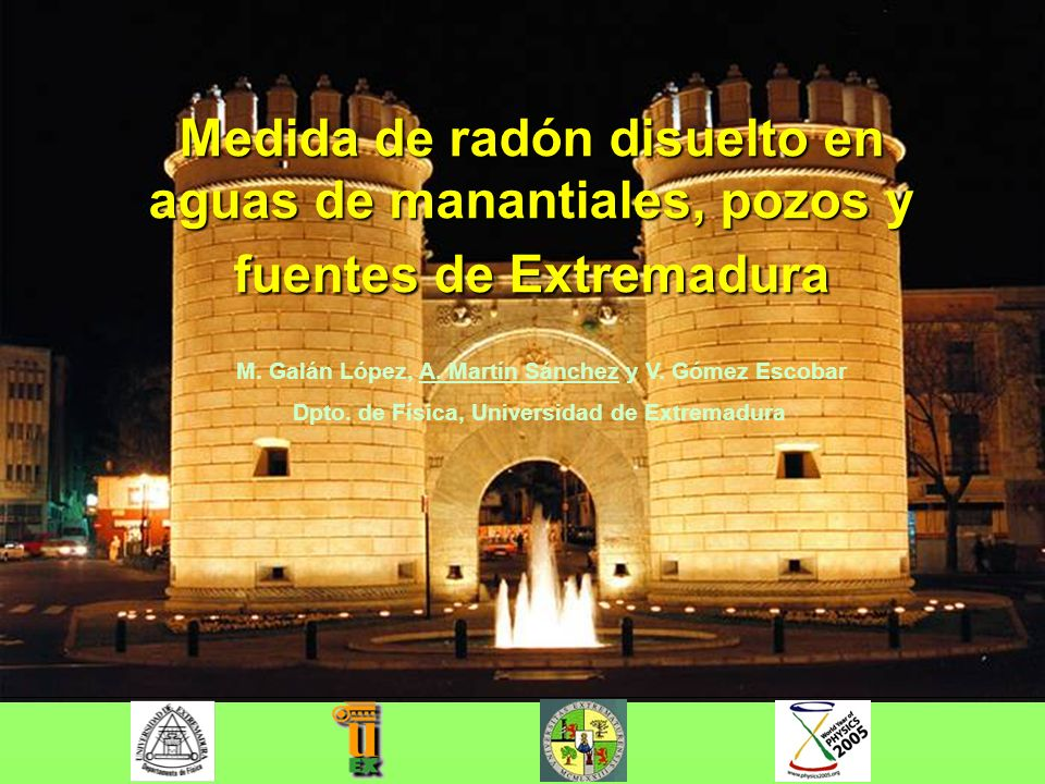 Dpto. de Física, Universidad de Extremadura
