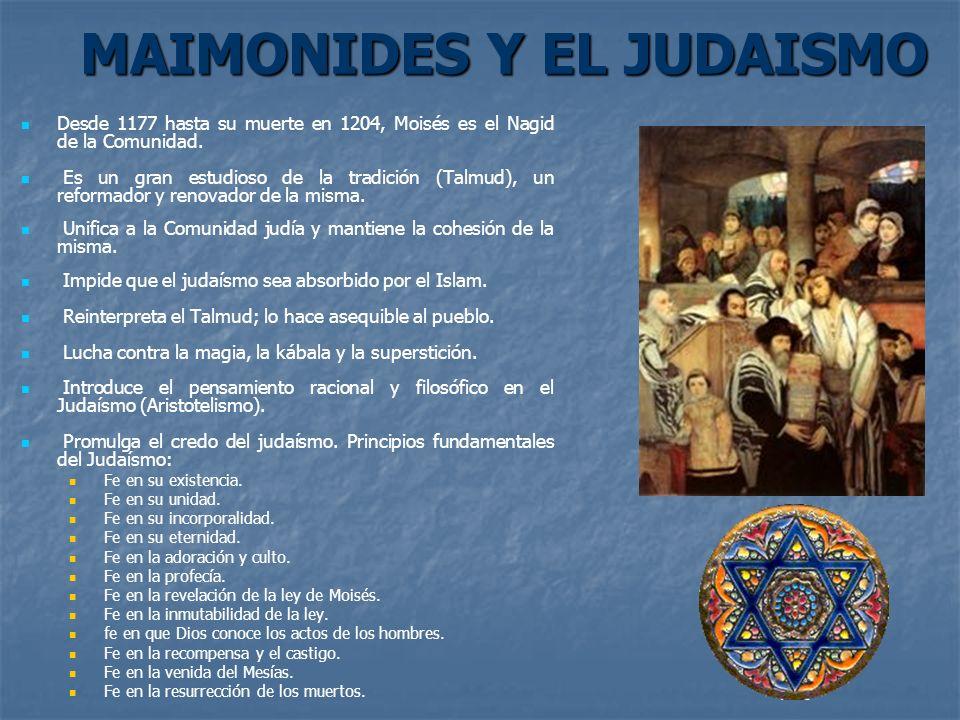 MAIMONIDES Y EL JUDAISMO
