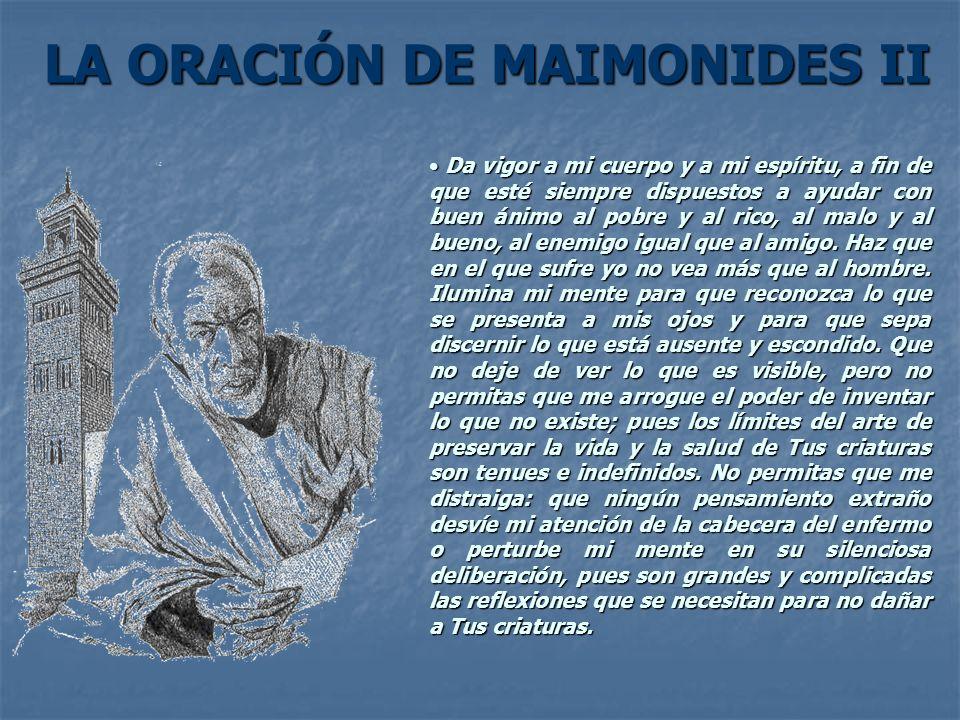 LA ORACIÓN DE MAIMONIDES II