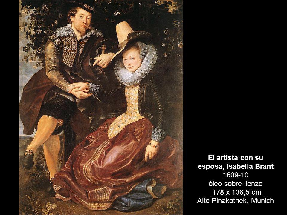 El artista con su esposa, Isabella Brant 1609-10 óleo sobre lienzo