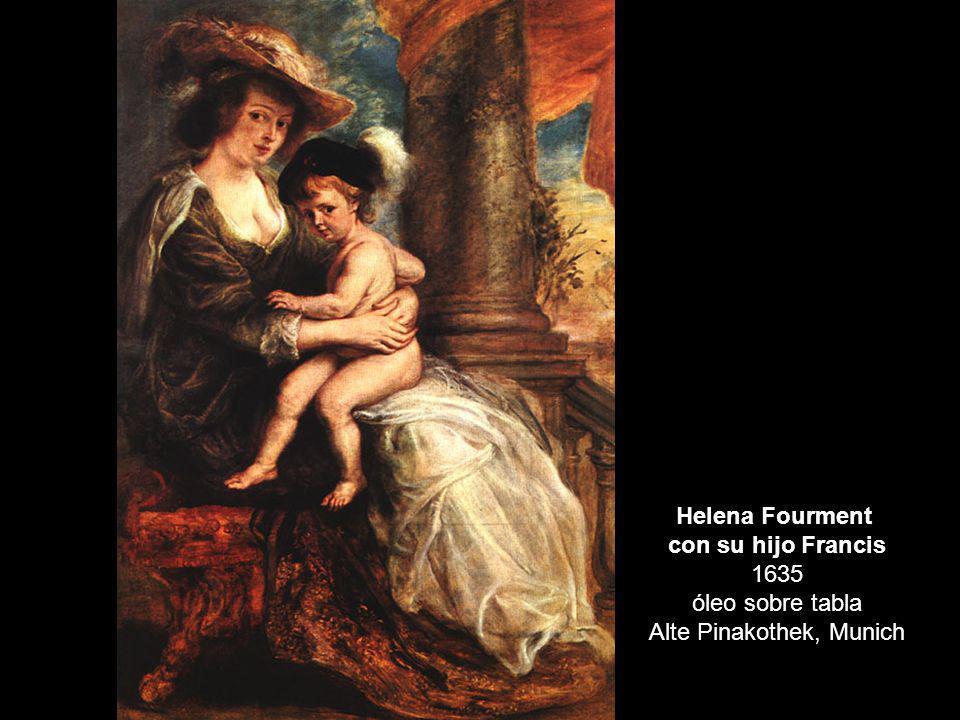 con su hijo Francis 1635 óleo sobre tabla