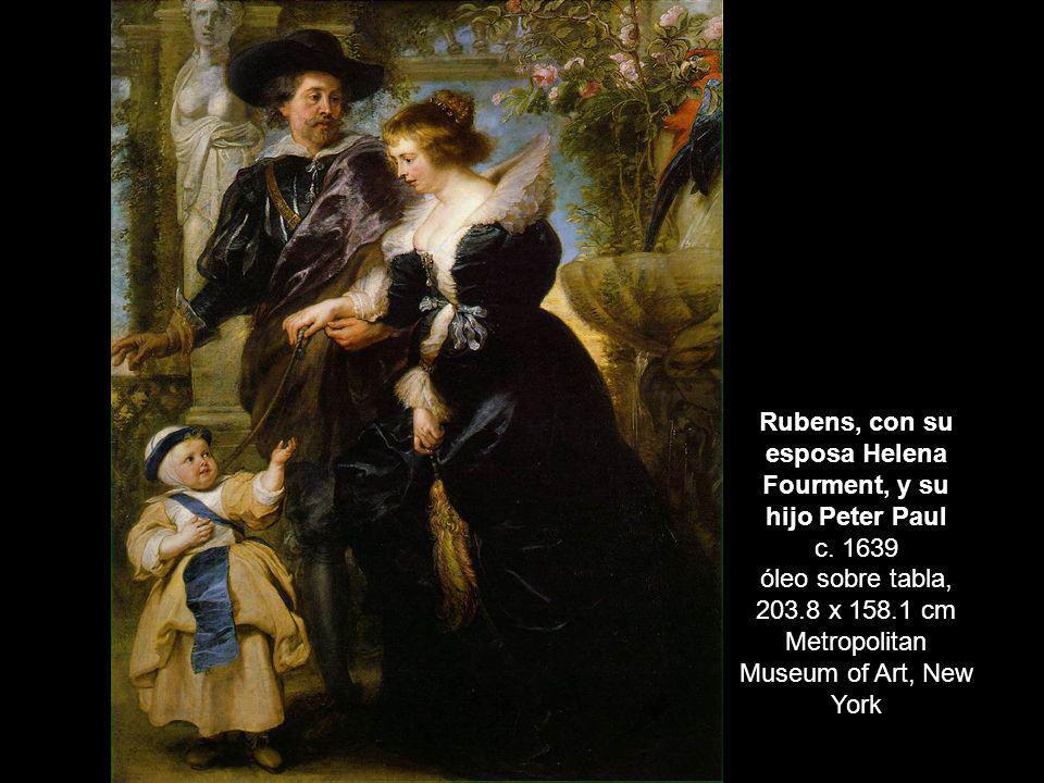 Rubens, con su esposa Helena Fourment, y su hijo Peter Paul c