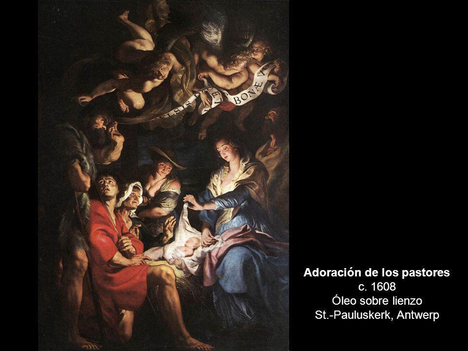 Adoración de los pastores c. 1608 Óleo sobre lienzo