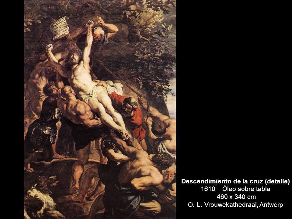 Descendimiento de la cruz (detalle) 1610 Óleo sobre tabla