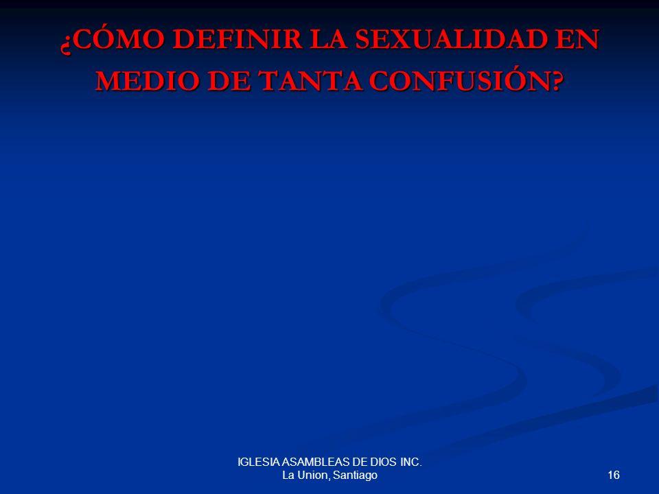 ¿CÓMO DEFINIR LA SEXUALIDAD EN MEDIO DE TANTA CONFUSIÓN
