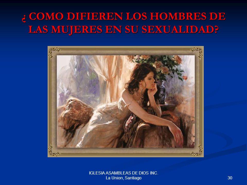 ¿ COMO DIFIEREN LOS HOMBRES DE LAS MUJERES EN SU SEXUALIDAD