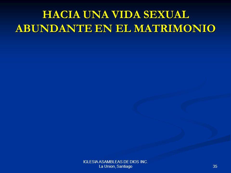 HACIA UNA VIDA SEXUAL ABUNDANTE EN EL MATRIMONIO