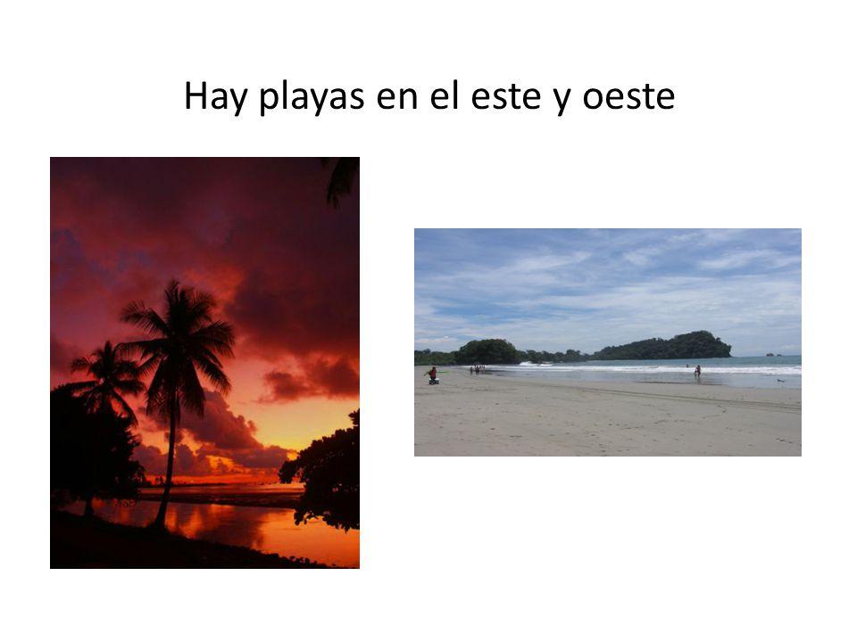 Hay playas en el este y oeste