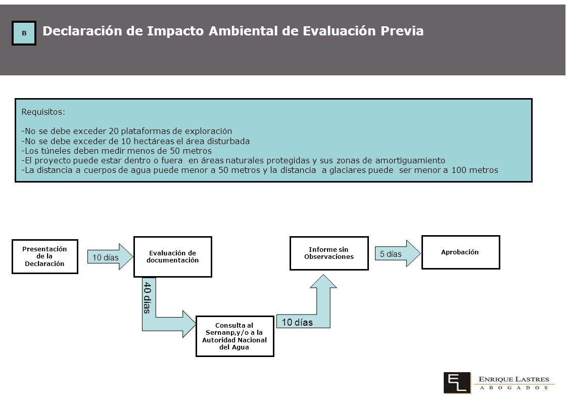Declaración de Impacto Ambiental de Evaluación Previa