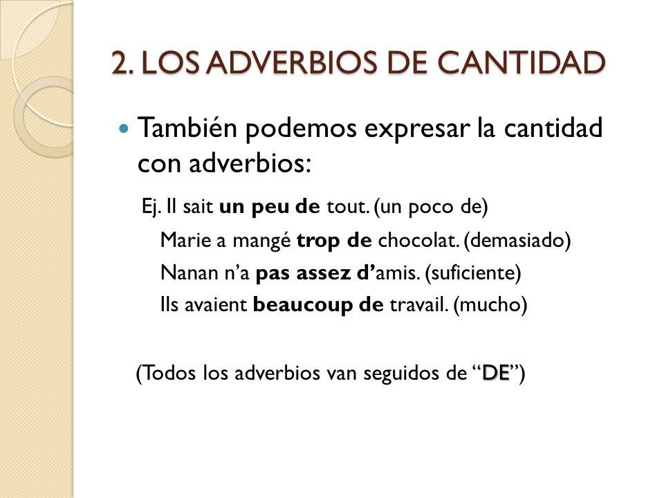 2. LOS ADVERBIOS DE CANTIDAD