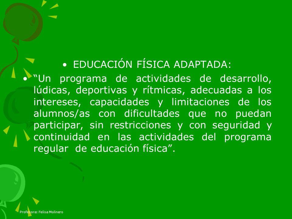 EDUCACIÓN FÍSICA ADAPTADA: