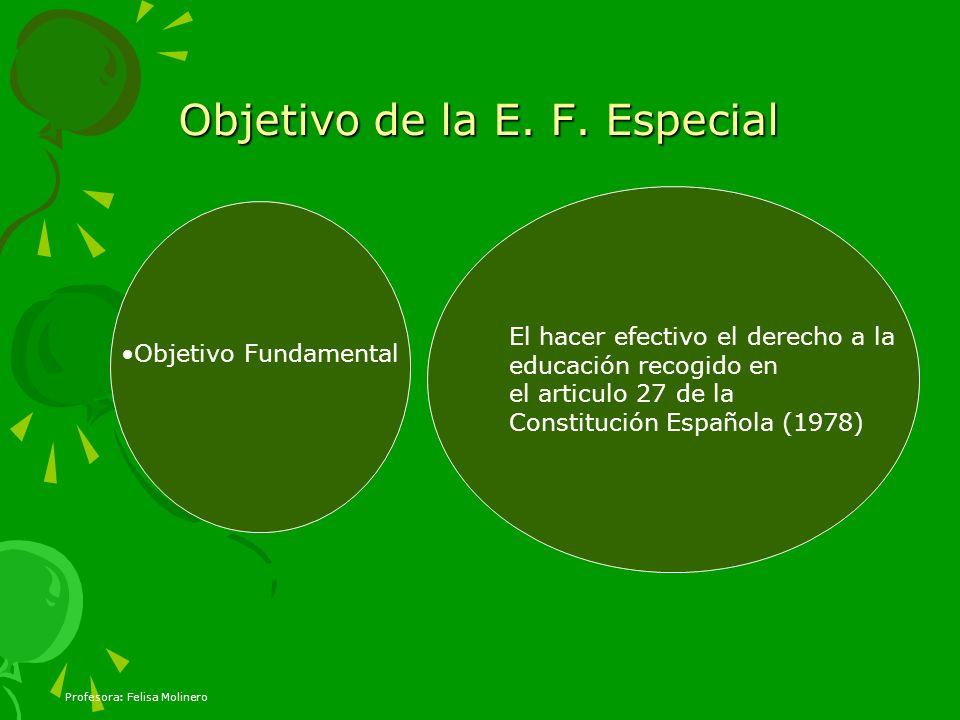 Objetivo de la E. F. Especial