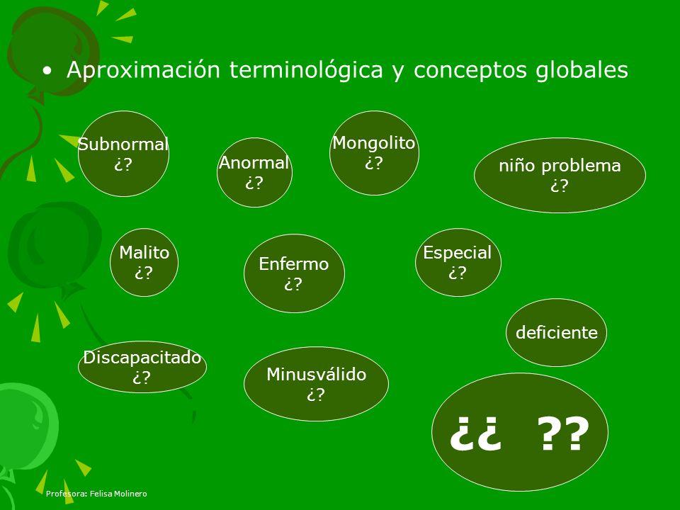 ¿¿ Aproximación terminológica y conceptos globales Subnormal ¿