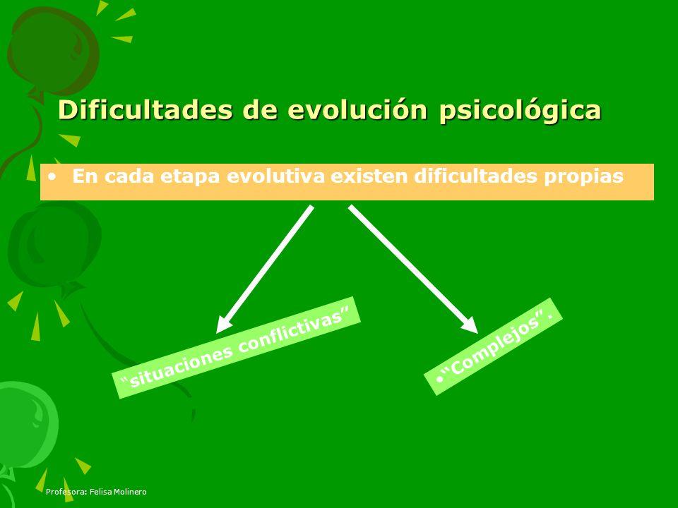 Dificultades de evolución psicológica
