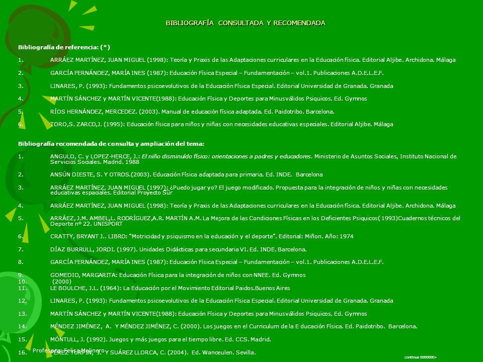 BIBLIOGRAFÍA CONSULTADA Y RECOMENDADA