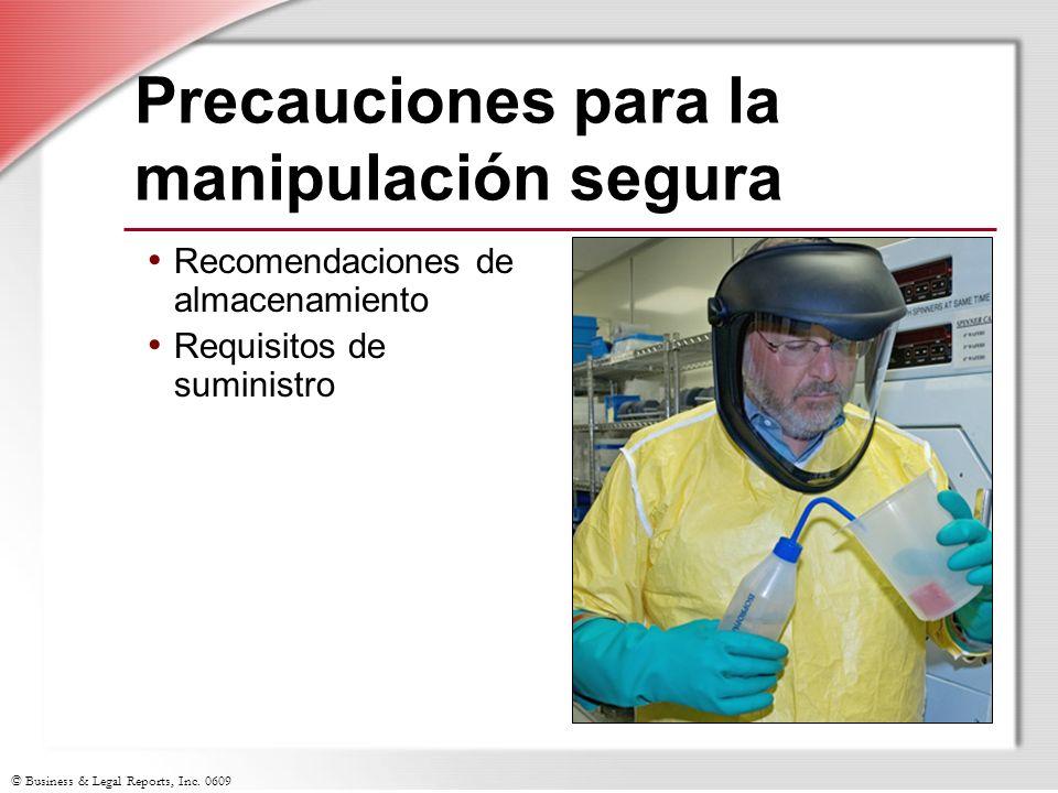 Precauciones para la manipulación segura