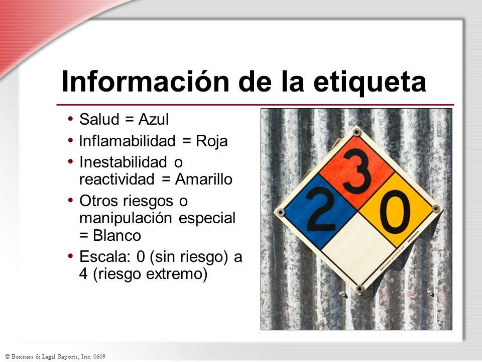 Información de la etiqueta
