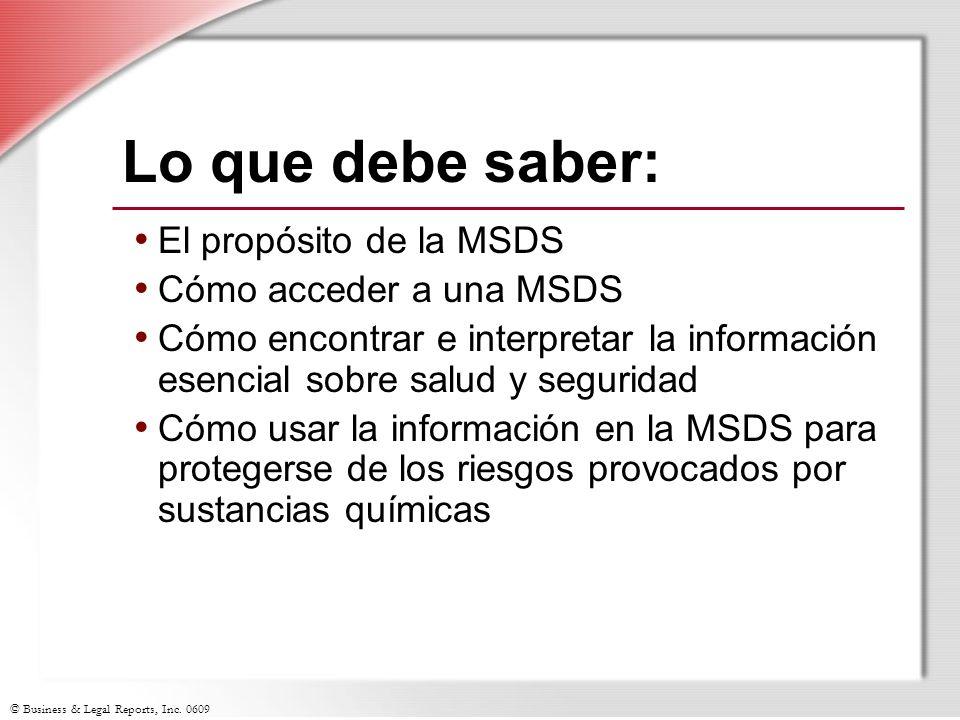 Lo que debe saber: El propósito de la MSDS Cómo acceder a una MSDS