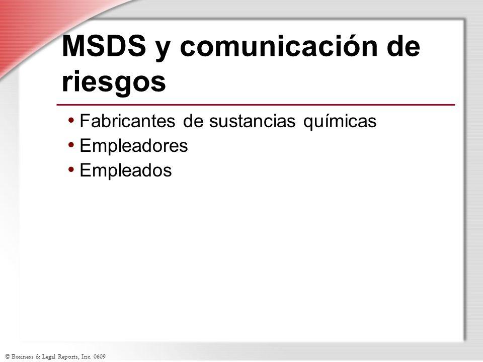 MSDS y comunicación de riesgos