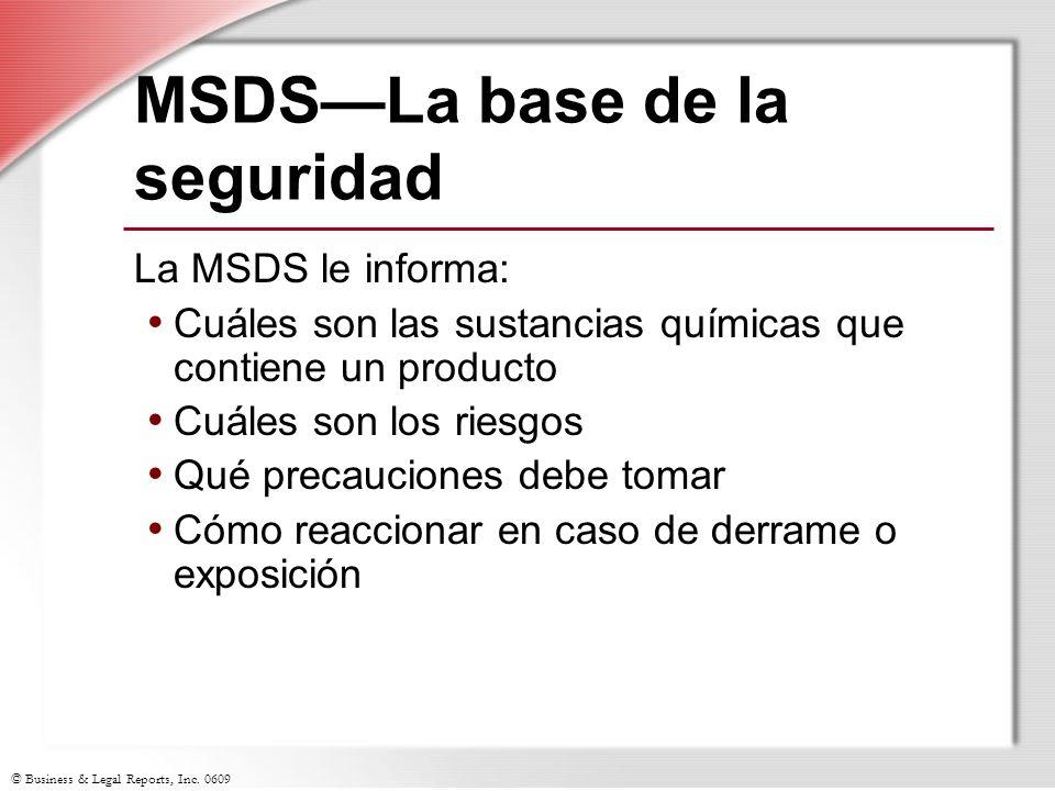 MSDS—La base de la seguridad