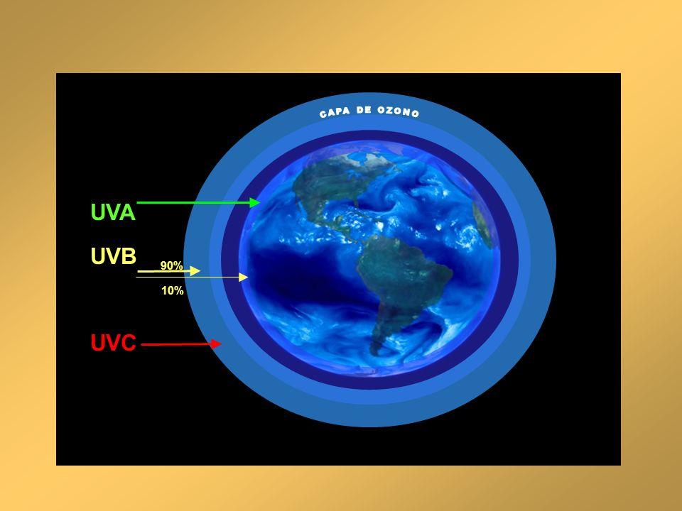 UVA UVB UVC CAPA DE OZONO 90% 10%
