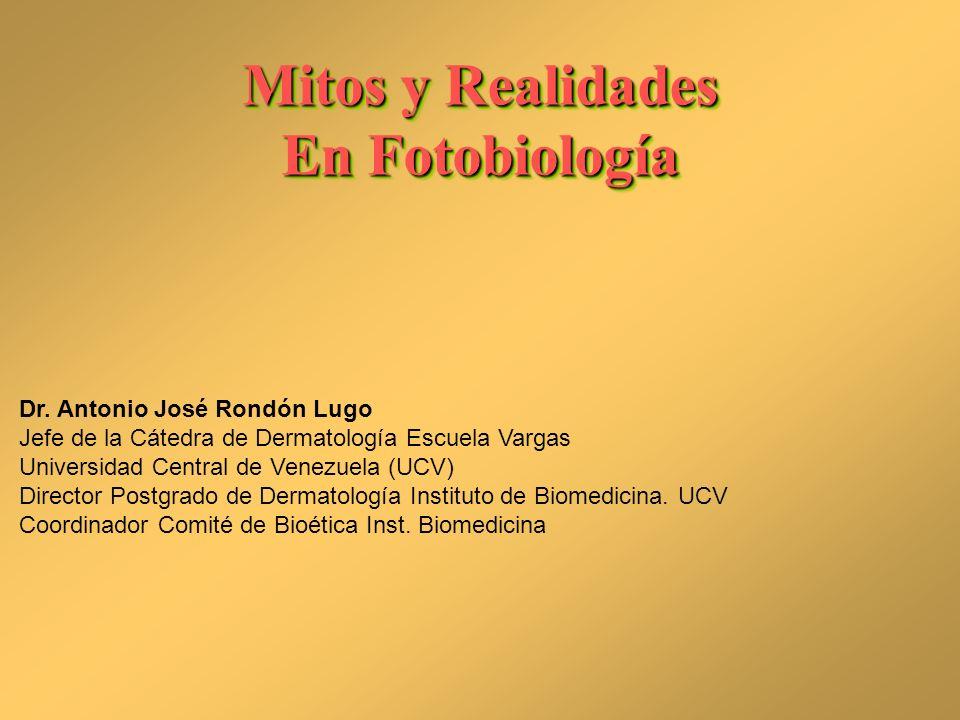 Mitos y Realidades En Fotobiología
