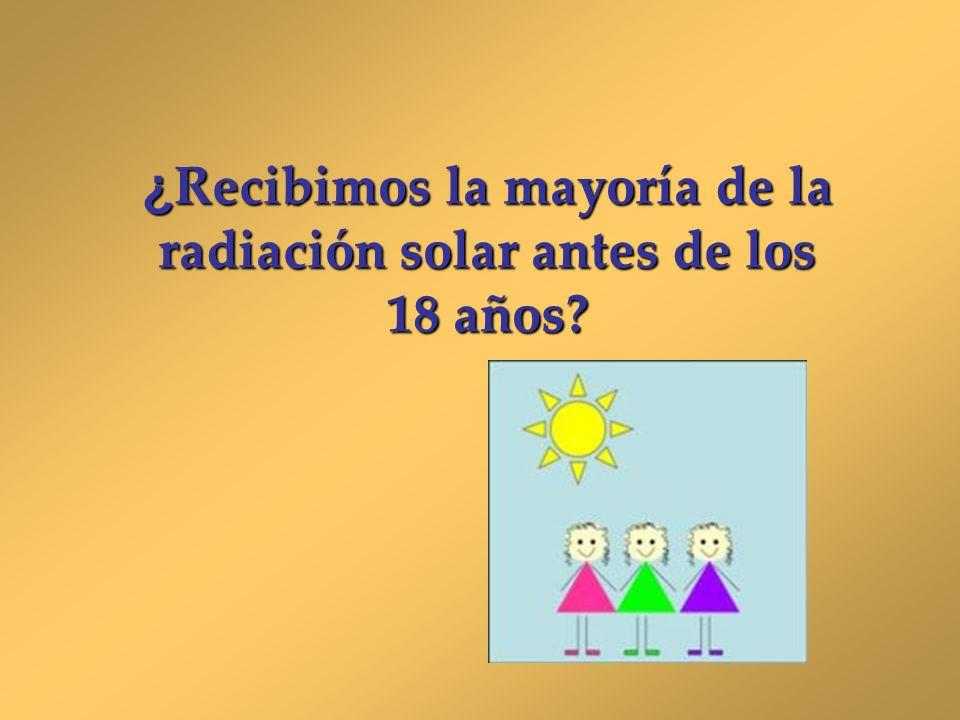 ¿Recibimos la mayoría de la radiación solar antes de los 18 años