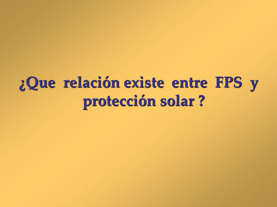 ¿Que relación existe entre FPS y protección solar