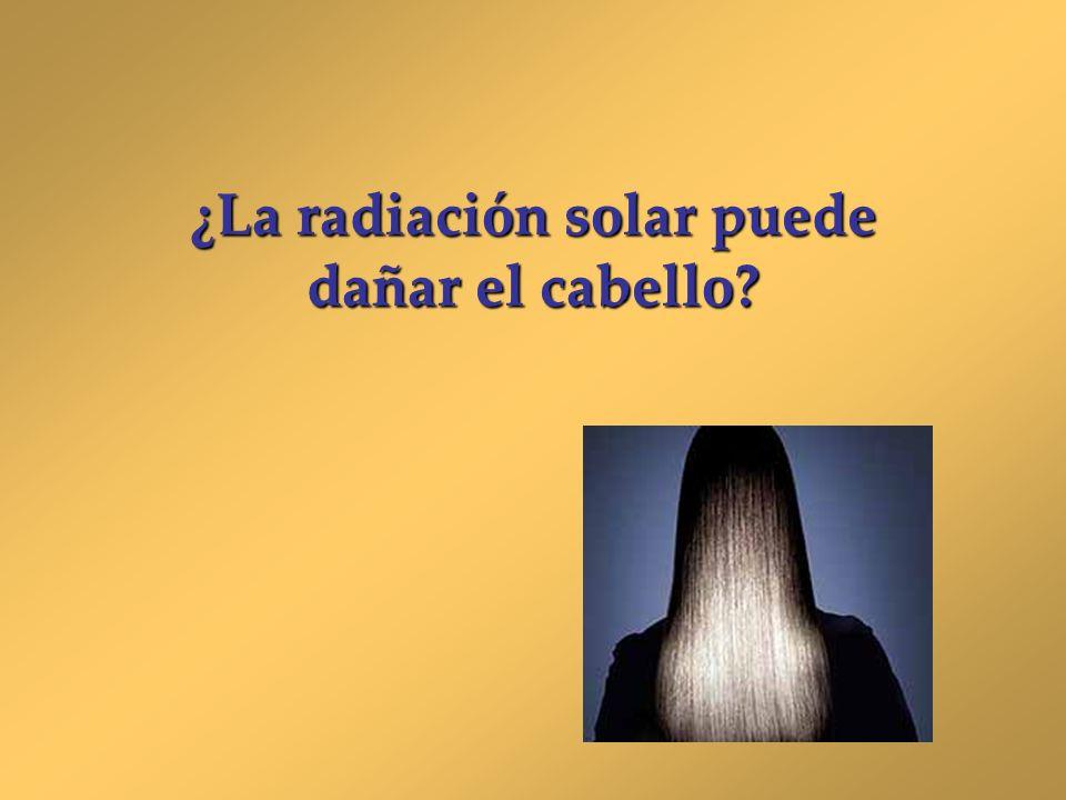 ¿La radiación solar puede dañar el cabello