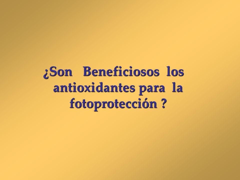 ¿Son Beneficiosos los antioxidantes para la fotoprotección