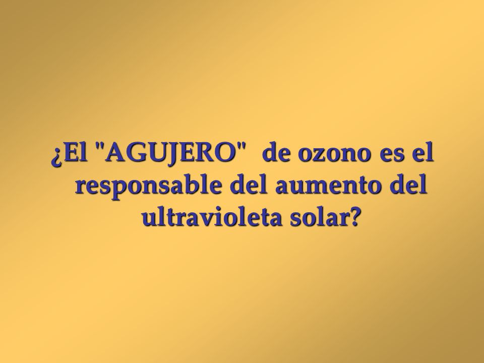 ¿El AGUJERO de ozono es el responsable del aumento del ultravioleta solar
