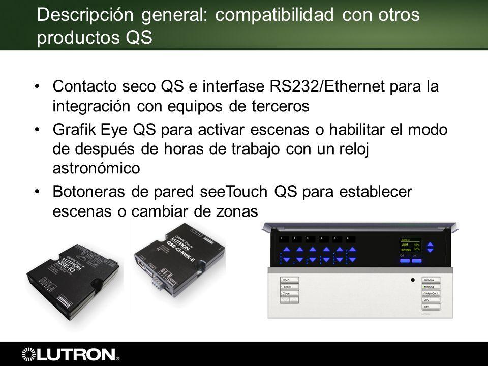 Descripción general: compatibilidad con otros productos QS