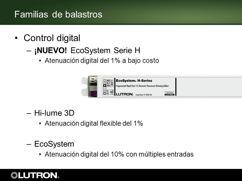 Familias de balastros Control digital ¡NUEVO! EcoSystem Serie H