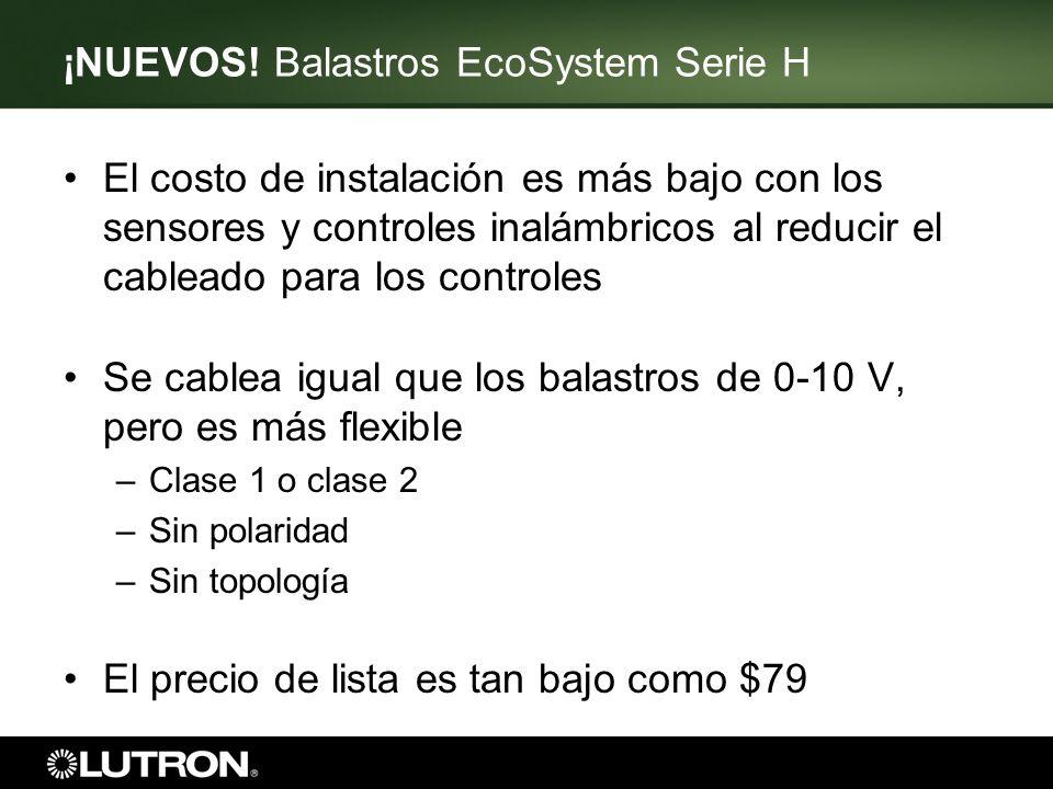 ¡NUEVOS! Balastros EcoSystem Serie H