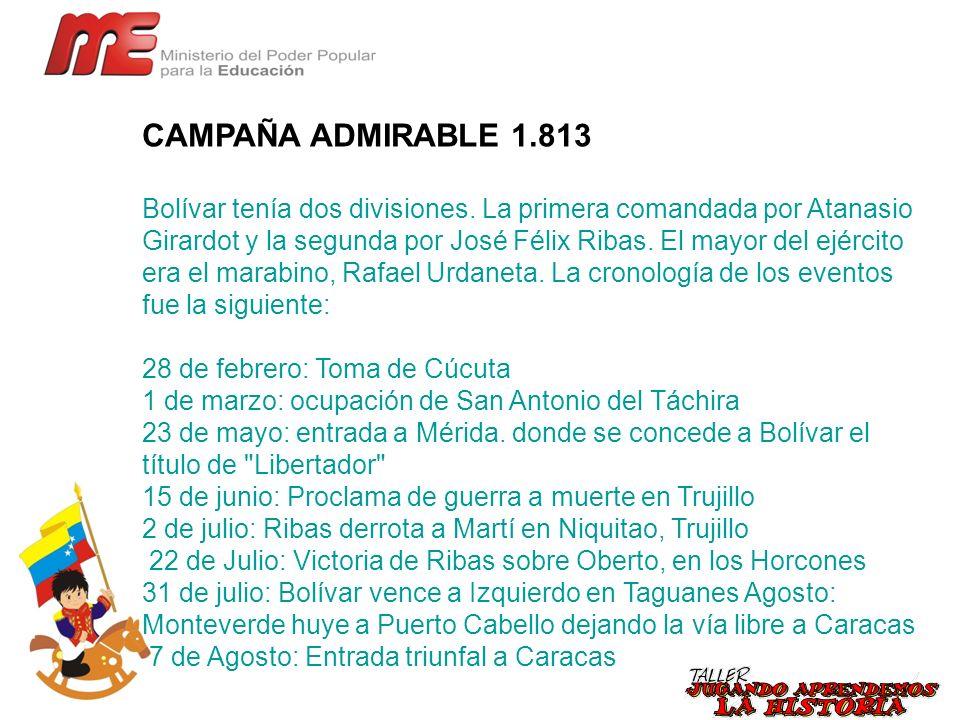 CAMPAÑA ADMIRABLE 1.813