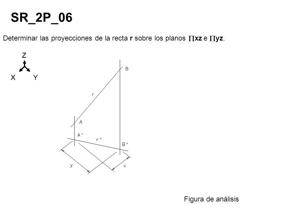 SR_2P_06 Determinar las proyecciones de la recta r sobre los planos xz e yz.