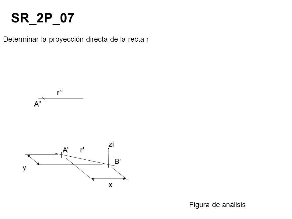 SR_2P_07 Determinar la proyección directa de la recta r r'' A'' zi A'