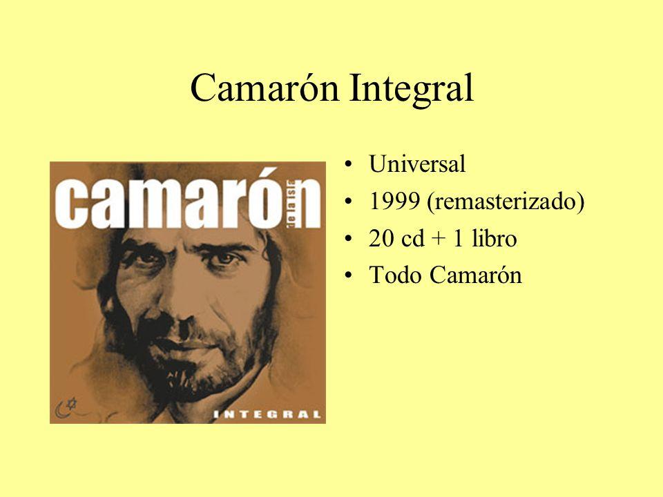 Camarón Integral Universal 1999 (remasterizado) 20 cd + 1 libro