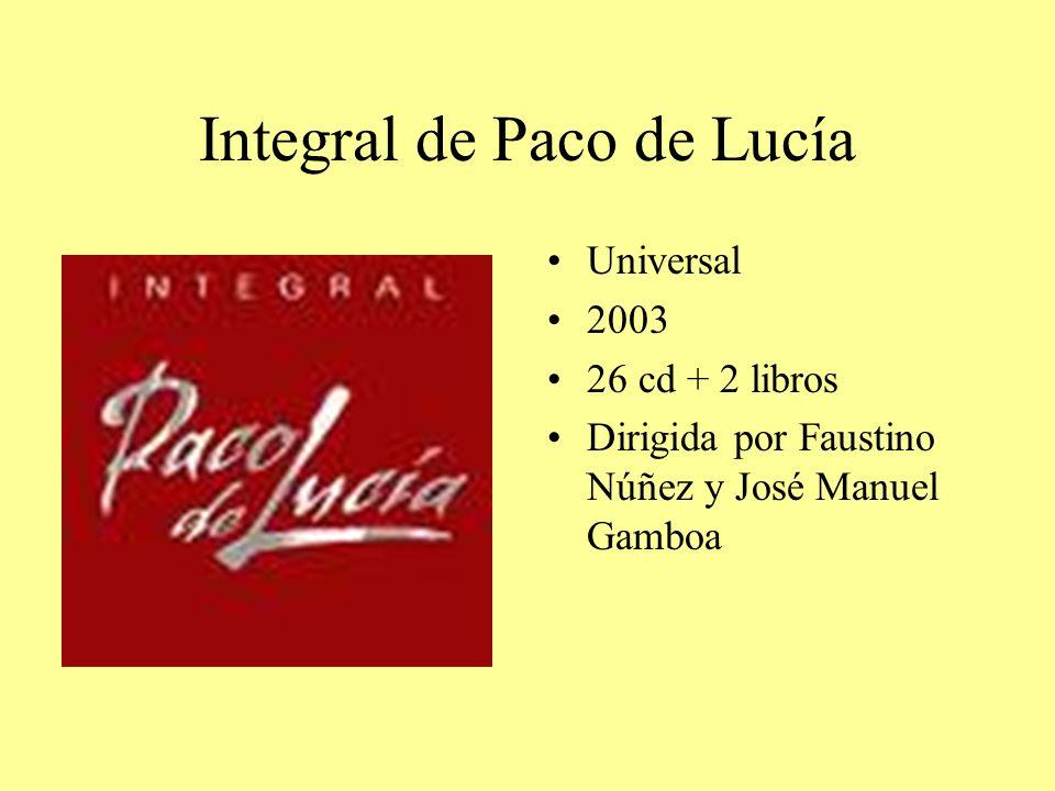 Integral de Paco de Lucía