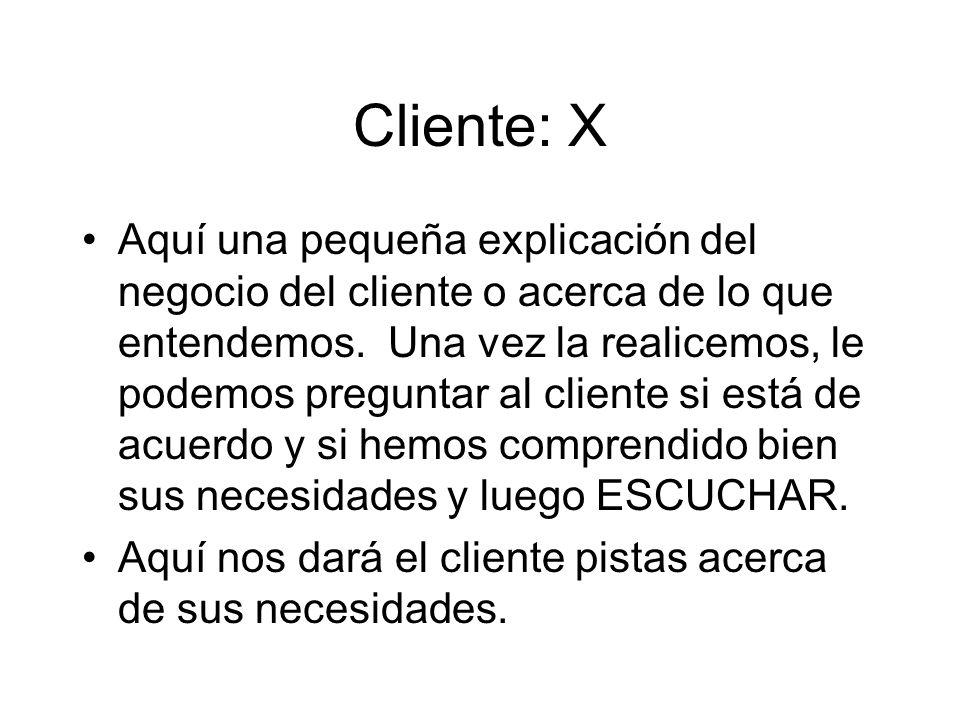 Cliente: X
