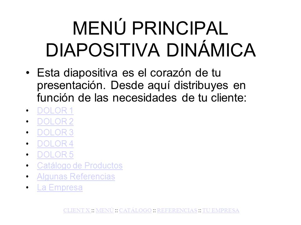 MENÚ PRINCIPAL DIAPOSITIVA DINÁMICA