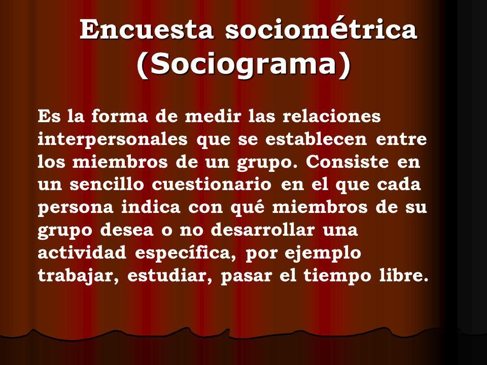 Encuesta sociométrica (Sociograma)