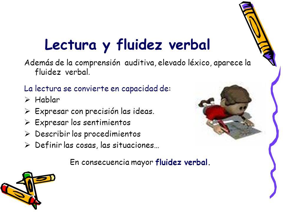 Lectura y fluidez verbal