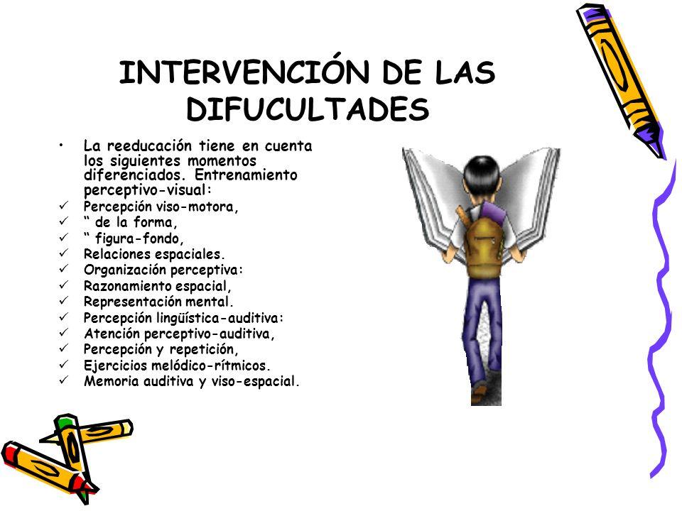INTERVENCIÓN DE LAS DIFUCULTADES